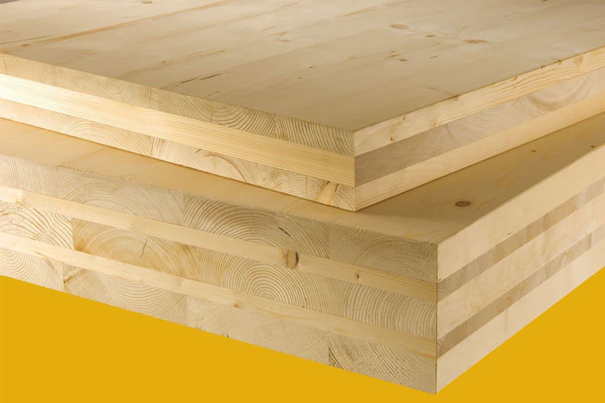 XLAM pannelli in legno lamellare incrociato