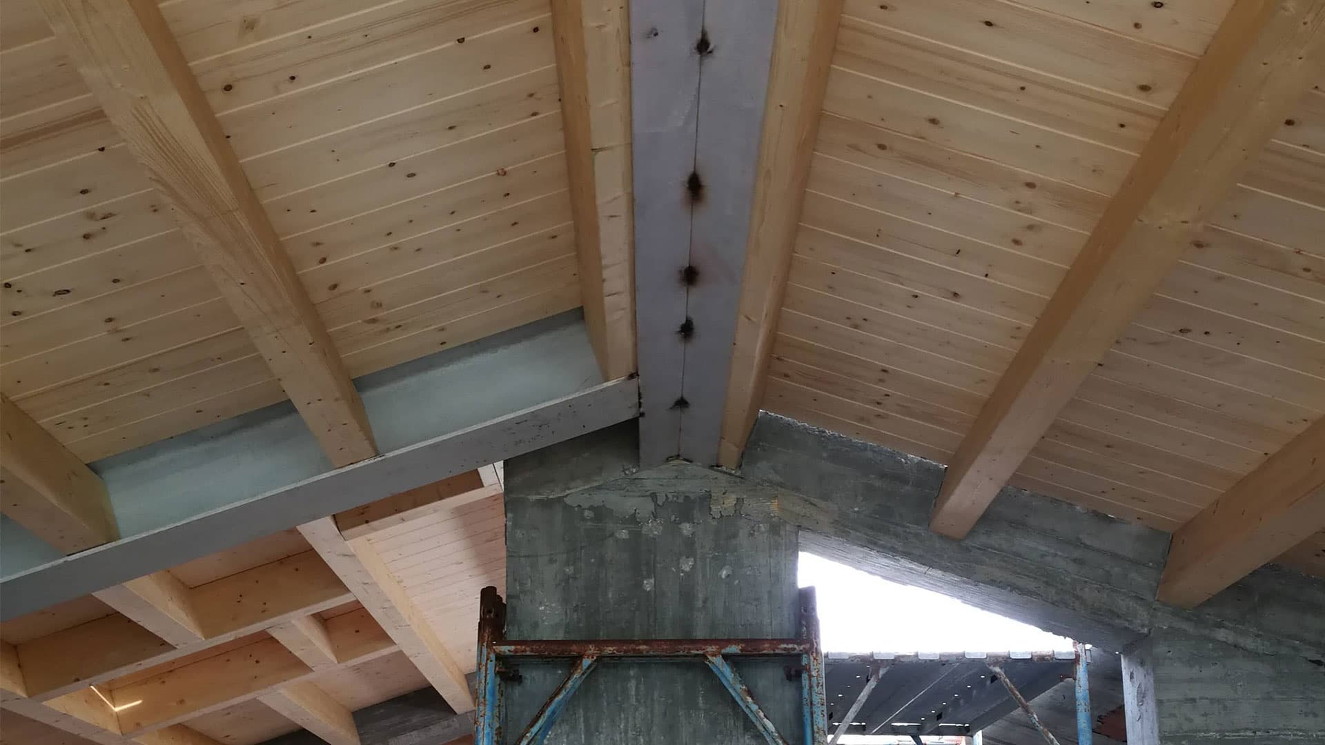 copertura in legno lamellare sesto fiorentino