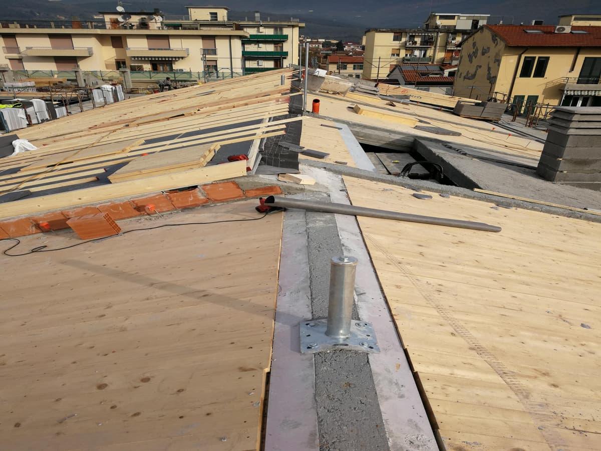 costruzione tetto lamellare