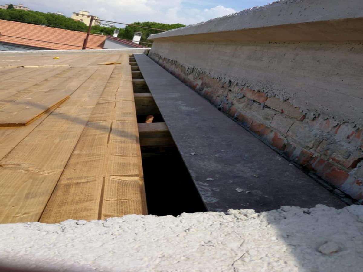 nuova copertura legno lamellare