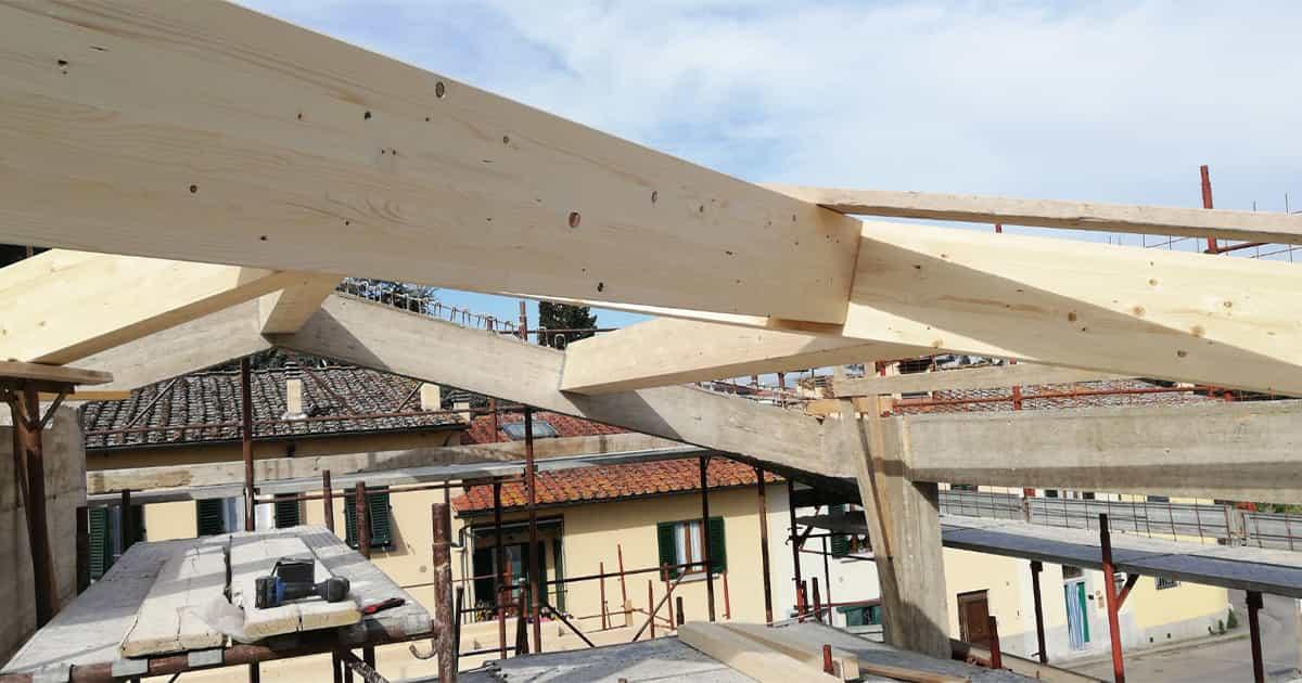 tetti legno particolare connessioni