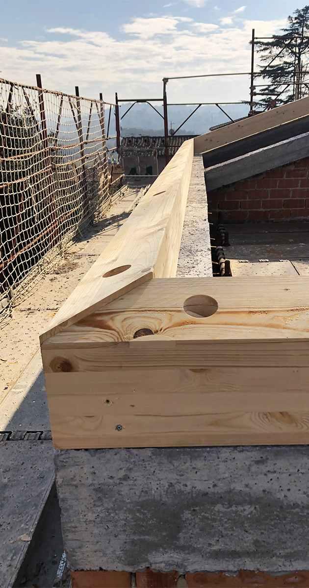 Cordolo in legno
