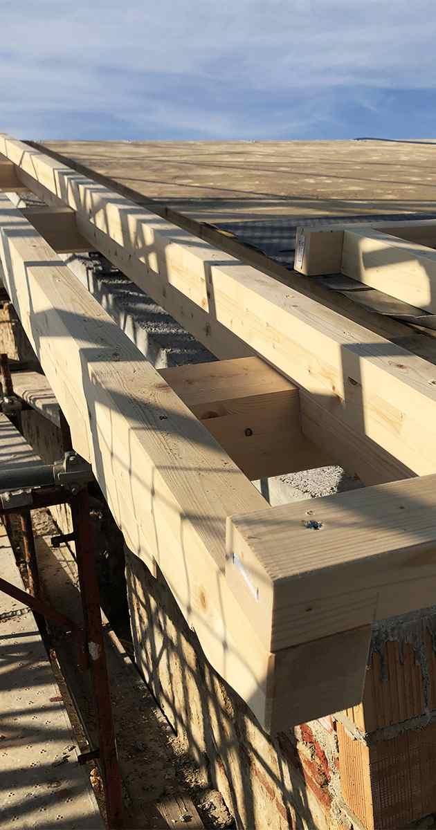 Gronda esterna in legno
