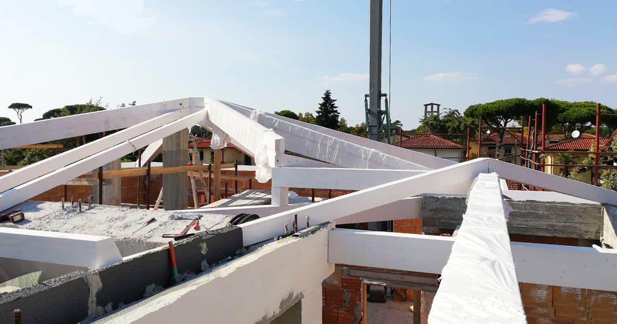 orditura tetto in legno pistoia