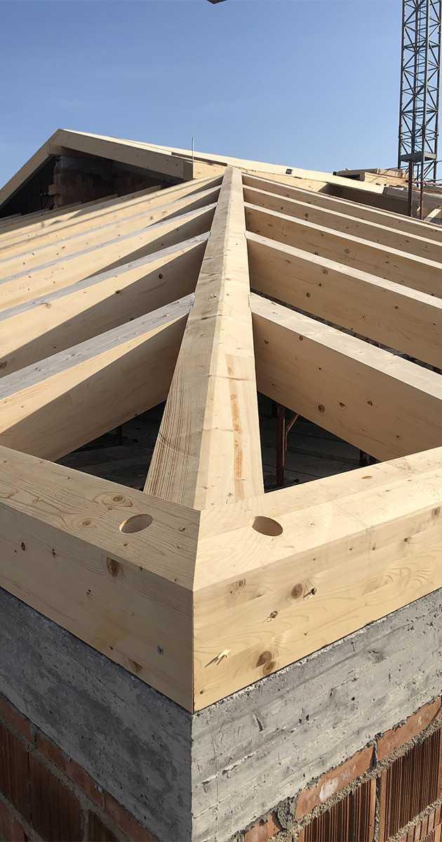 particolare diagonale in legno