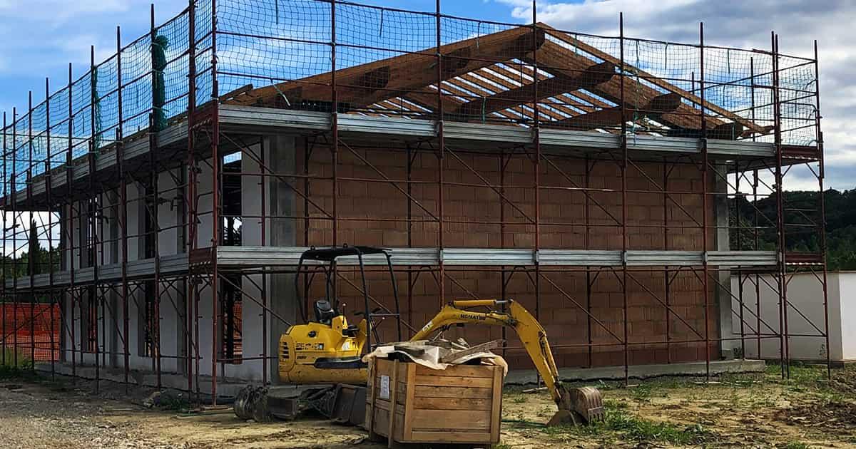struttura tetto legno peccioli