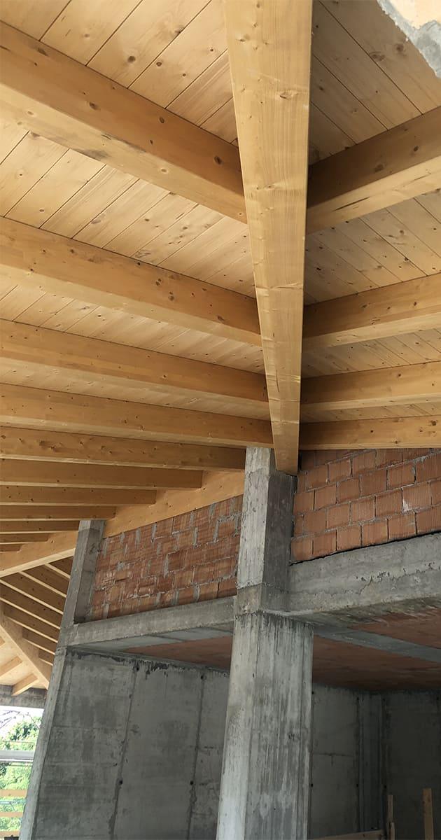 tetti legno lamellare travature
