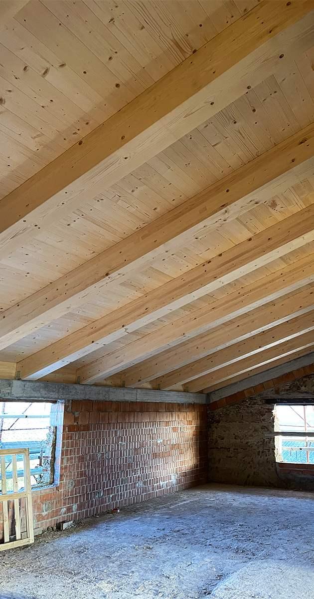 travatura legno lamellare verticale