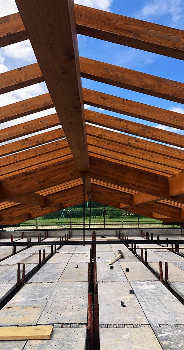 travature copertura in legno