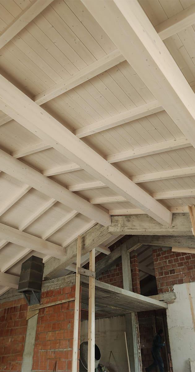 travature tetti in legno lamellare peccioli